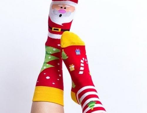 Șosete damă din bumbac Nanushki Christmas cu bandă elastică