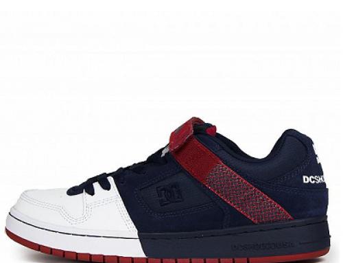 Pantofi sport bărbați DC Manteca V QPXW58 din piele și cu bandă Velcro