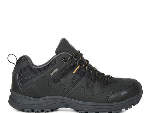 Pantofi sport bărbați Trespass Finley pentru drumeții negri impermeabili