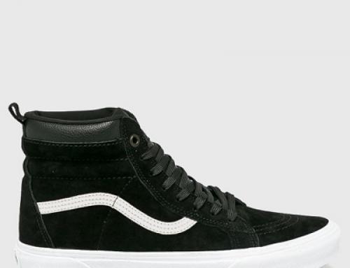 Pantofi sport bărbați Vans SK8-HI din piele naturală, înalți, cu talpă plată