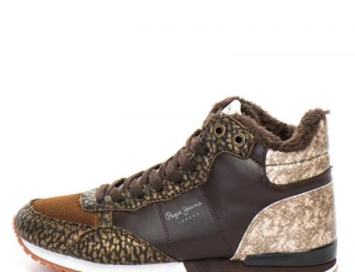 Pantofi sport damă Pepe Jeans London Gambel îmblăniți și înalți