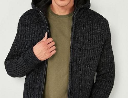 Cardigan tricotat Next Alfred pentru bărbați, cu glugă și fermoar