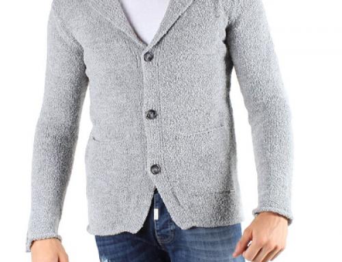Cardigan Absolut Joy EWPQ4T pentru bărbați, din lână, cu nasturi, gri