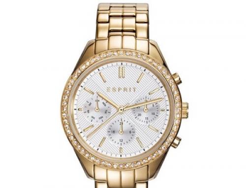 Ceas de damă Esprit ES109232001 5 ATM, Auriu, Quartz, Analog