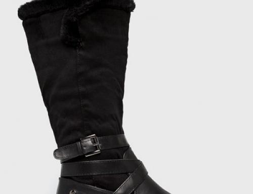 Cizme de damă cu blană XTI Emre impermeabile și cu talpă plată, negre