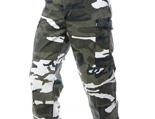 Pantaloni bărbați Mil-Tec QW54HT cu imprimeu camuflaj, din bumbac