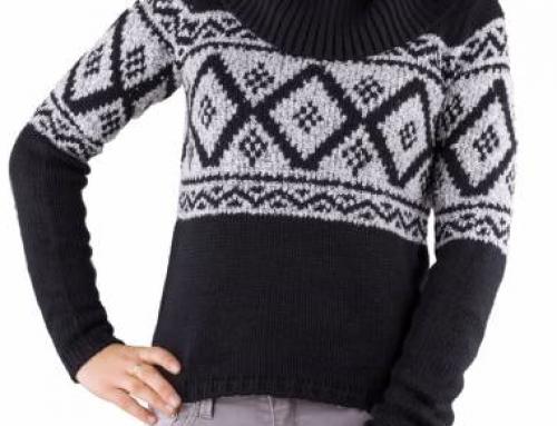 Pulover de damă tricotat Tally Weijl W25RWQ cu guler înalt, negru