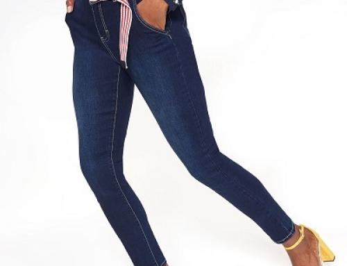 Blugi damă Skinny Top Secret FR5FE elastici cu talie medie, accesorizați