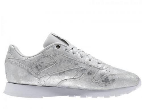 Pantofi sport damă Reebok Classic CN2969 argintii din piele naturală