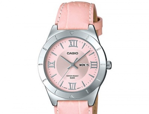 Ceas de damă Casio LTP-1410L-4AVDF, 5 ATM, roz, Quartz