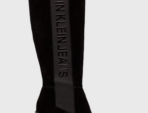 Cizme damă cu platformă Calvin Klein Jeans FYQ8Dw din piele naturală