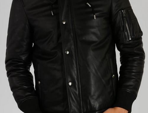 Geacă bărbați Diesel Black Gold Lavie scurtă din piele naturală, neagră