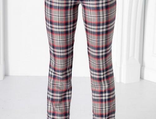Pantaloni damă office Pretty DWY5pWX drepți cu imprimeu în carouri