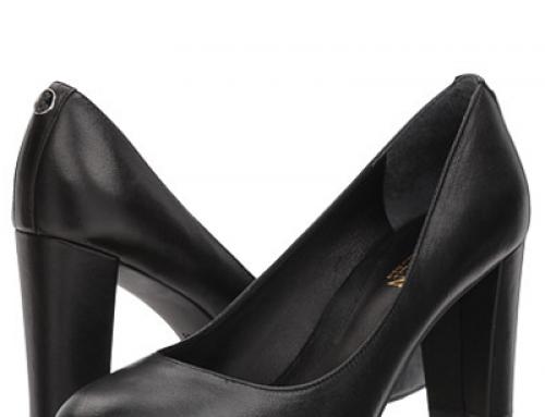 Pantofi damă office Ralph Lauren Maddie negri din piele naturală