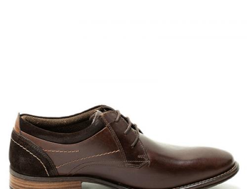 Pantofi bărbați Casanova Gamo casual derby din piele naturală, maro