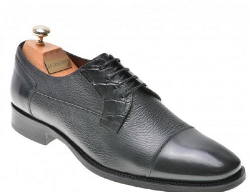 Pantofi eleganți bărbați Le Colonel NR3FW din piele naturală, negri