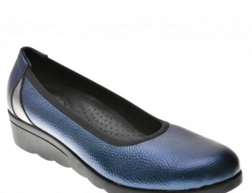 Pantofi de damă Flavia Passini FVEw4Q din piele naturală bleumarin, casual