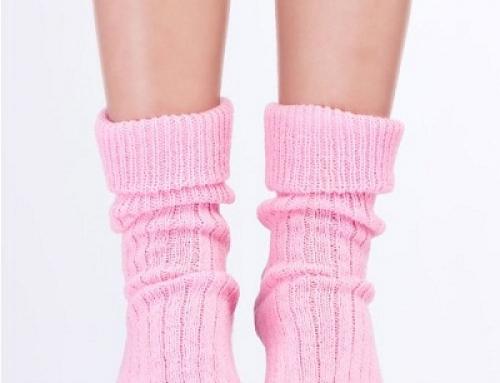 Șosete de damă de casă pentru dormit din lână Steven FWFQSA, roz