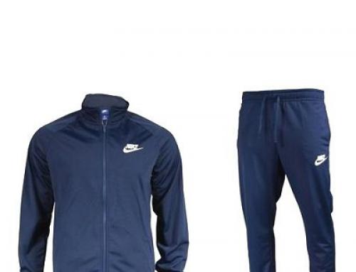 Trening Nike Polyknit Tracksuit HRWQ5FE pentru bărbați, albastru