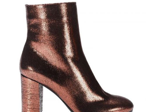 Botine de damă elegante L'Autre Chose Ankle FWCUQ din piele naturală cu efect strălucitor