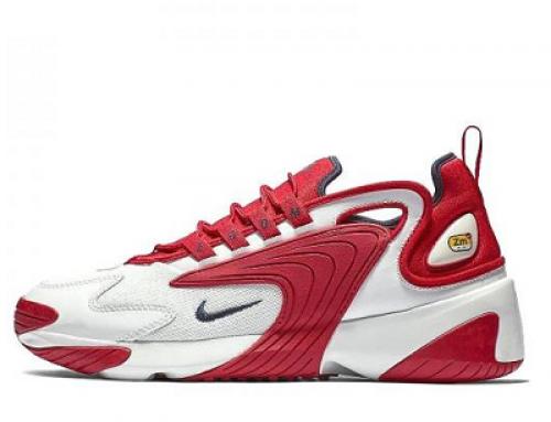 Pantofi sport pentru bărbați Nike Zoom 2k HUKUDW, albi/roșii