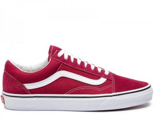 Pantofi sport damă Vans Old Skool VN0A38 din piele naturală cu talpă plată