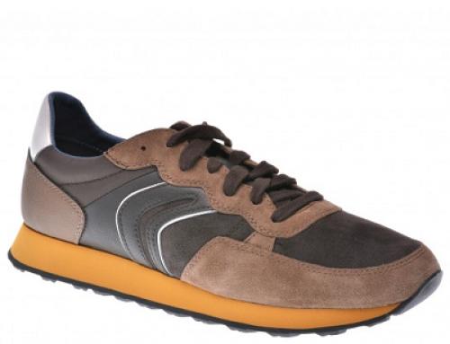 Pantofi sport pentru bărbați Geox DF8GY8R din piele ecologică, maro