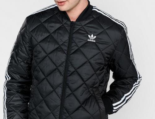 Geacă scurtă sport bărbați Adidas Originals JKL6FRW matlasată neagră, regular fit