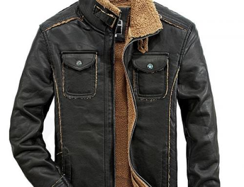 Geacă scurtă pentru bărbați Coby MK5RE stil motociclist cu guler înalt, neagră