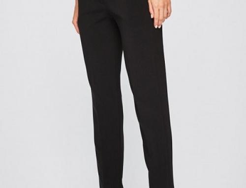 Pantaloni damă office negri Answear VK8UYT drepți cu talie normală, buzunare oblice