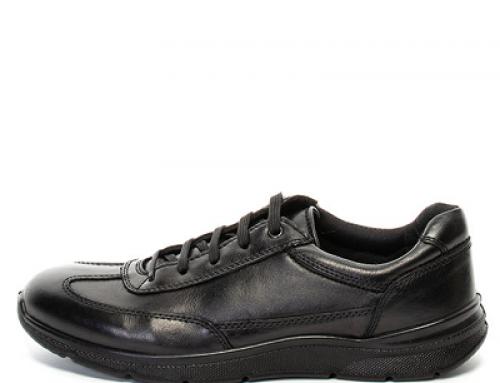 Pantofi casual pentru bărbați Zee Lane MLTR6R din piele naturală, negri