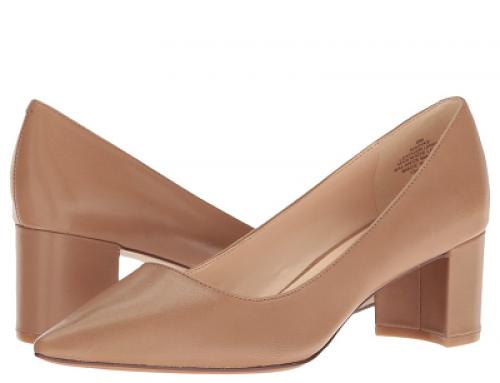 Pantofi damă office Nine West Ike din piele naturală,  cu vârf ascuțit și toc gros