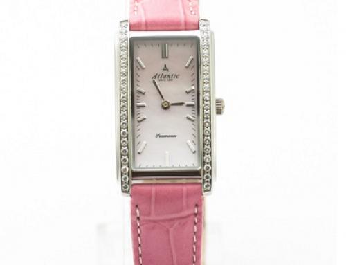 Ceas de damă Atlantic Seamoon 270444198 cu brățară roz, 3 ATM, Quartz