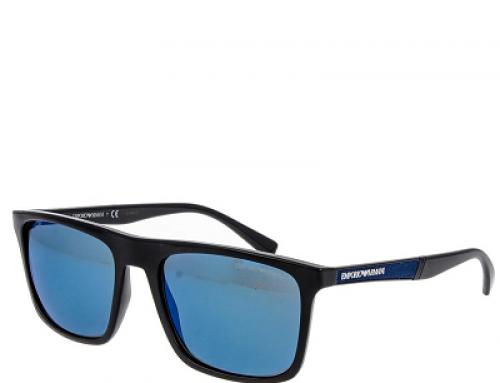 Ochelari de soare bărbați Emporio Armani EA4097501755-56 polarizați, lentile gri