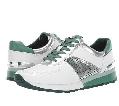 22a0a91573ca Pantofi sport de damă Michael Kors Allie Wrap JULCX6R din piele naturală,  albi