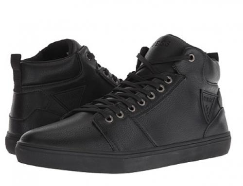 Pantofi sport pentru bărbați GUESS Tembo LDWSW înalți negri cu talpă plată