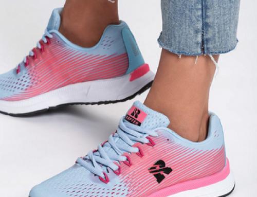 Pantofi sport damă cu talpă plată Sumptuous Hadria KNBV bleu din material textil