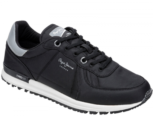 Pantofi sport bărbați Pepe Jeans Tinker BHMWDSA negri, căptușiți