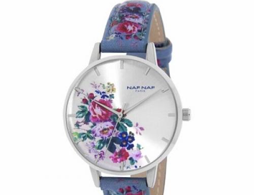 Ceas damă Naf Naf N11342002, 3 ATM, cu imprimeu floral, Quartz