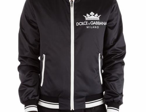 Geacă scurtă pentru bărbați Dolce&Gabbana UVQS3Z neagră cu buzunare încheiate