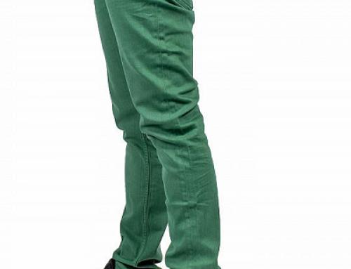 Pantaloni casual din bumbac pentru bărbați DC Sumner Straight HWCQ7 verzi