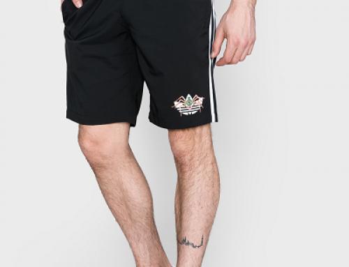 Pantaloni scurți sport bărbați Adidas Originals JLNQS din bumbac negri, drepți