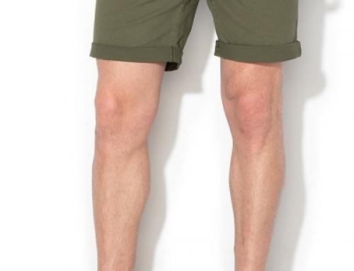Pantaloni scurți chino bărbați Jack&Jones H84D-GVQK din bumbac, verzi