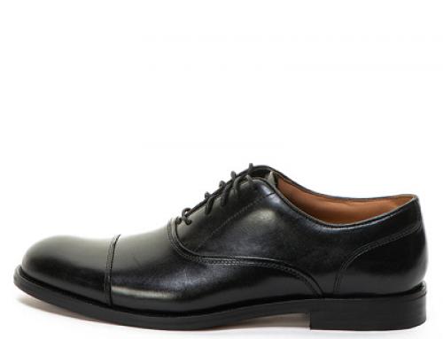 Pantofi eleganți pentru bărbați Clarks Coling LBQDA4 din piele naturală, negri