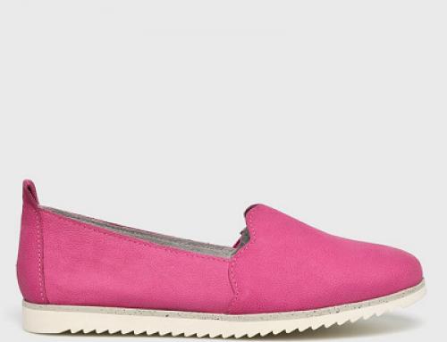 Pantofi damă casual roz Marco Tozzi KZLDWS din piele naturală cu talpă joasă