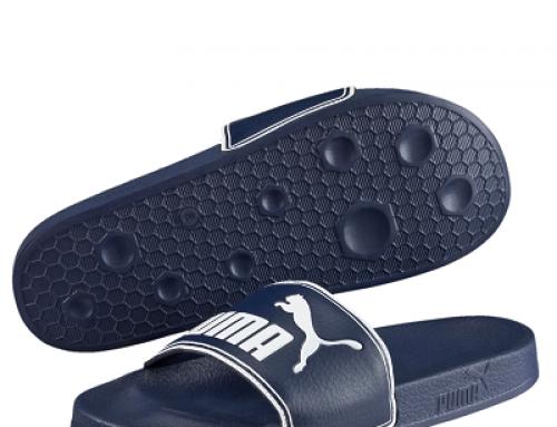 Papuci de plajă bărbați Puma Leadcat HJLBWQ sport albaștri cu talpă antiderapantă