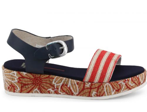 Sandale de damă U.S. POLO ASSN Jenna KLBMQ cu talpă plată și platformă, albastre