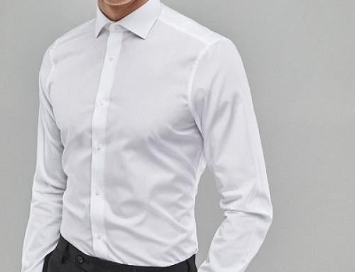 Cămașă office albă Next HKLA Kolton pentru bărbați, slim fit, din bumbac