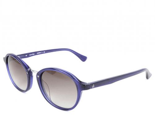 Ochelari de soare Calvin Klein Easton FJS de damă cu lentile gri și ramă albastră