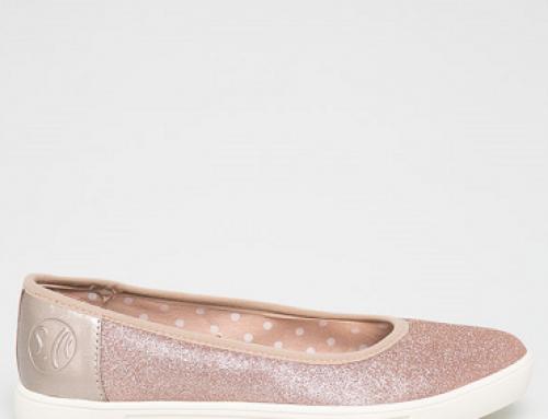 Balerini s. Oliver LDQ Willa de damă cu talpă plată și aspect strălucitor, roz